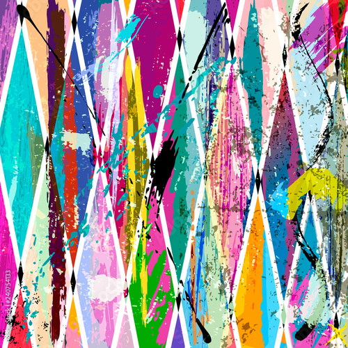 abstract background, with strokes, splashes and geometric lines, grungy