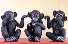 Les Trois Singes Dicton Asiatique, Ne Pas Voir Le Mal, Ne Pas Entendre Le Mal, Ne Pas Dire Le Mal