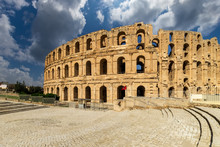El Jem Amphitheater In Tunisia.
