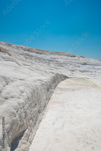 Fotografie, Obraz  Panoramic view of Pammukale near modern city Denizli, Turkey