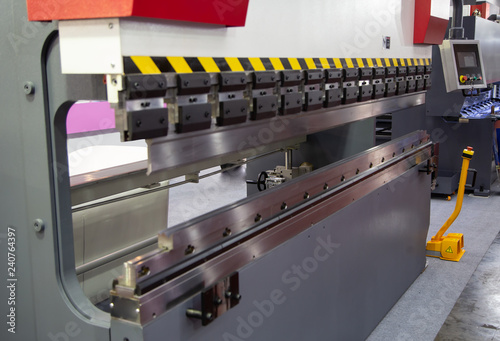 CNC Hydraulic Press Brake - Buy this stock photo and explore