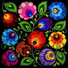 Vintage style of floral pattern background.