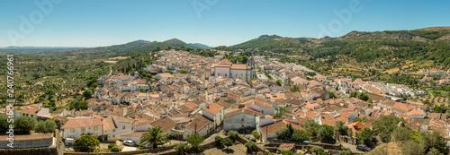 View of the hilltop village of Castelo de Vide in Alentejo, Portugal, from the c Canvas Print