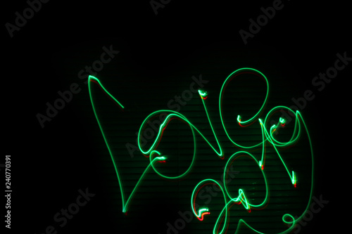 Fototapety, obrazy: Love 2019. Abstract background. Red and green
