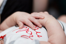 Delicate Hands Of A Child. Bab...