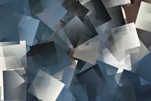 Mosaik In Den Farben Weiß, Beige Und Blau