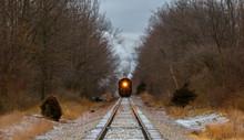 Train Coming Down Tracks