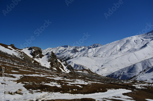 Foto op Plexiglas Donkergrijs mountains in winter