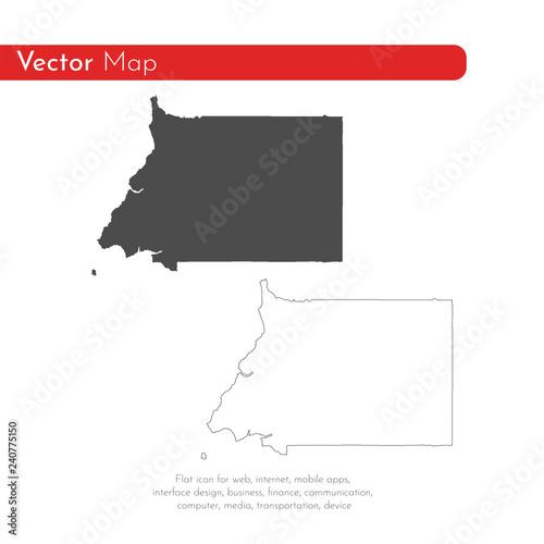 Fotografía  Vector map Equatorial Guinea
