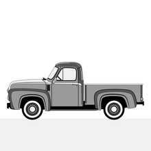 Pickup, Vector Illustration , ...