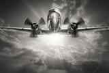 historyczne samoloty na tle słonecznego nieba - 240785354