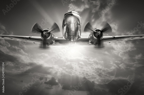 historical aircraft against a sunny sky Wallpaper Mural