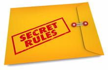Secret Rules Confidential Hidden Classified Yellow Envelope 3d Illustration
