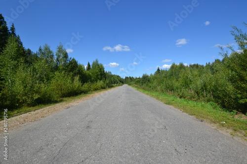 Fototapeta a road to Unknown obraz na płótnie