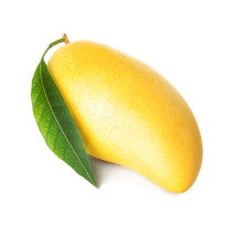 Fresh Ripe Mango With Green Le...