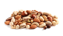 Pile Of Mixed Organic Nuts On ...