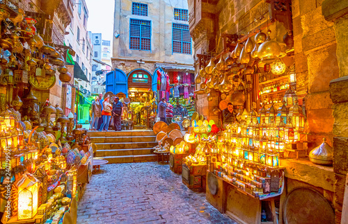 The bright arabian lamps, Cairo, Egypt