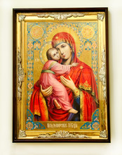 Icon Virgin Mary And Jesus