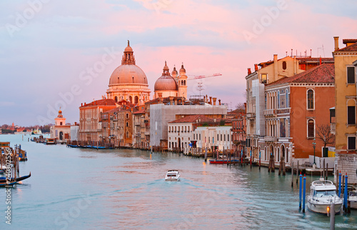 Tuinposter Centraal Europa Grand canal at sunset, Venice