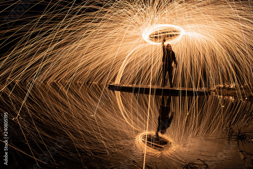 Fotografering  Steelwool Action