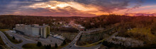 Sunset Aerial Panorama Of Hist...