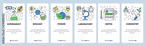 Web Site Onboarding Screens Science Experiment In Lab Chemisty