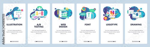 Web site onboarding screens Wallpaper Mural