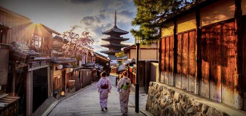 Pagoda Yasaka gdje je orijentir Kyoto u Japanu.