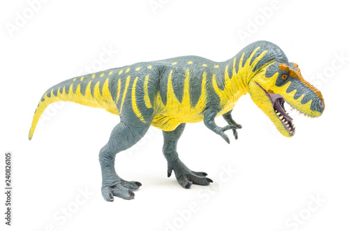 Photo  Plastic Yellow Blue Tyrannosaurus Rex Dinosaur Toy (Side 2)
