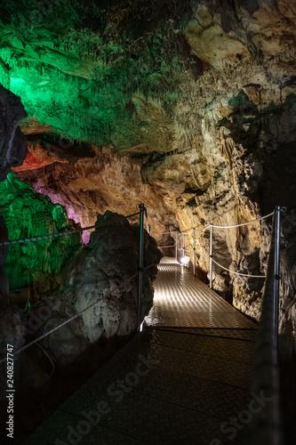 Footbridge in cave