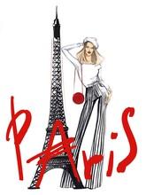 The Girl Near The Eiffel Tower.