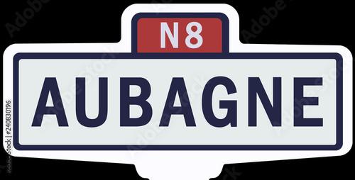 AUBAGNE - Ancien panneau entrée d'agglomération Canvas Print