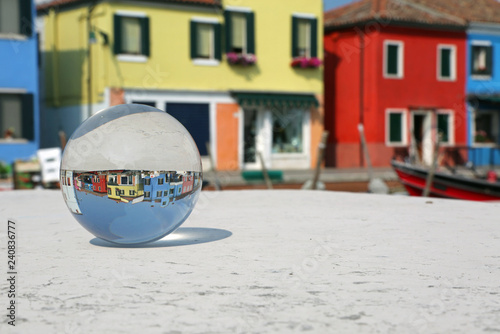 Fotografie, Tablou glass sphere in Burano Island near Venice