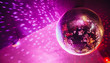 canvas print picture - disco, ball, party,