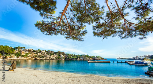 On the beach of Porto Cristo Mallorca Spain