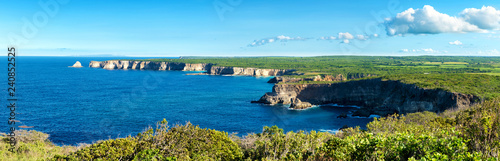 "Photo ""pointe de la grande vigie"" cliffs, panoramic view,Guadeloupe, French West Indie"