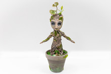 Groot Doll From Wood, Moss And...