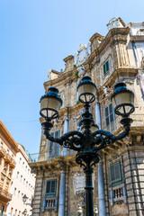 Fototapeta na wymiar Palermo Sicily Historic Buildings. Old Architecture