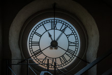 Inside Of The Clock Tower. Aft...
