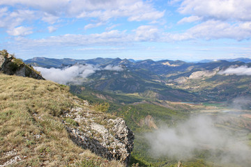 French Alps from the Chabre mountain