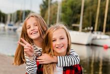 Portrait Of Two Happy Girls
