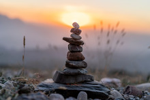 Cairn At Sunset