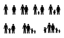 Pictogram People Set Family St...