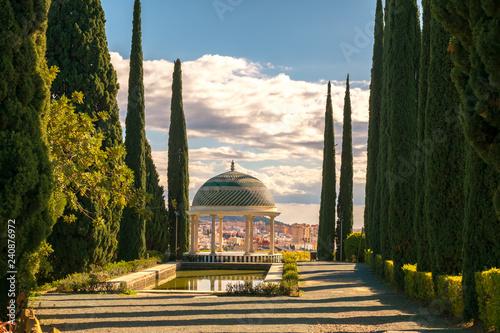 Fényképezés  Historical Gazebo, Conception garden, jardin la concepcion in Malaga, Spain