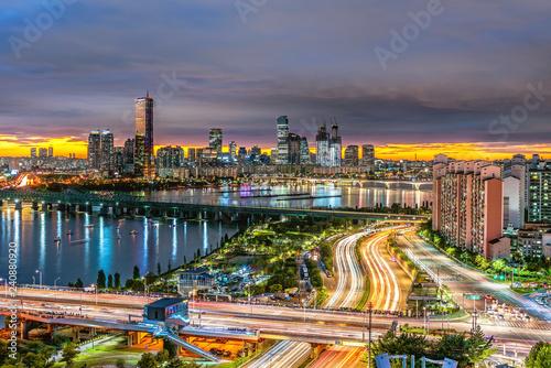 Fototapety, obrazy: Seoul City Skyline, the best view of South Korea