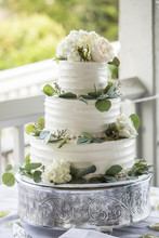 Three Tiered Wedding Cake With...