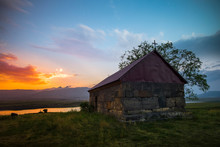 Small Chapel At The Sunset