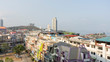 Panoramic view of Sriracha city in Sriracha, Chonburi, Thailand.