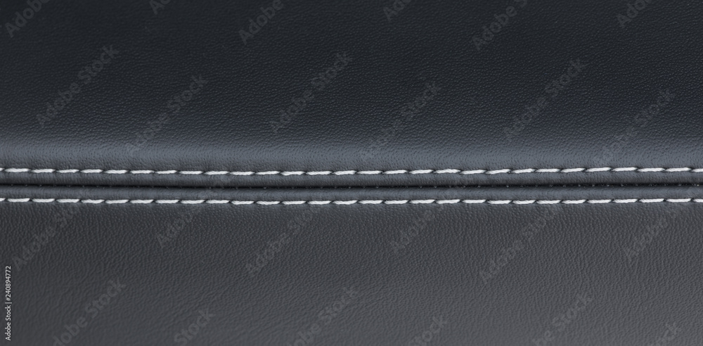 Fototapety, obrazy: luxury black leather car interior