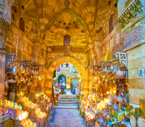 The scenic shop in Khan El-Khalili market, Cairo, Egypt